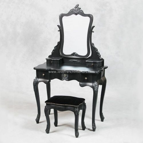 A Dressing Table Set in Noir Black